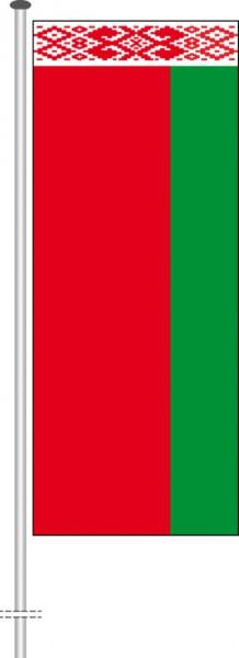 Weissrussland Belarus als Hochformatfahne