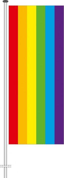 Regenbogen als Hochformatfahne