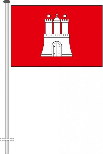 Hamburg - Bürgerflagge als Querformatfahne