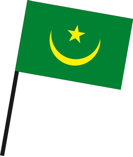 Mauretanien als Stockfahne