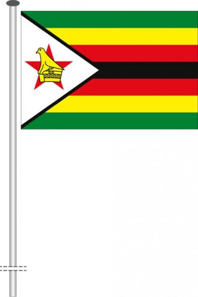 Simbabwe als Querformatfahne
