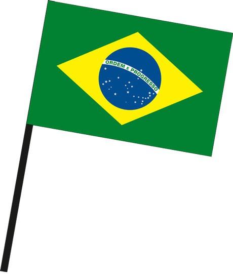 Brasilien als Stockfahne