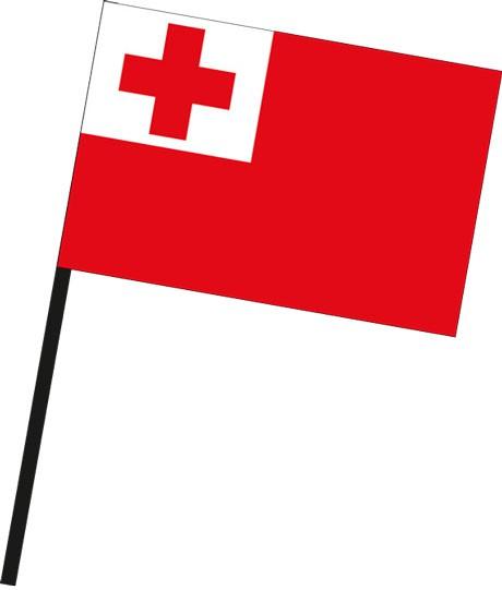 Tonga als Stockfahne