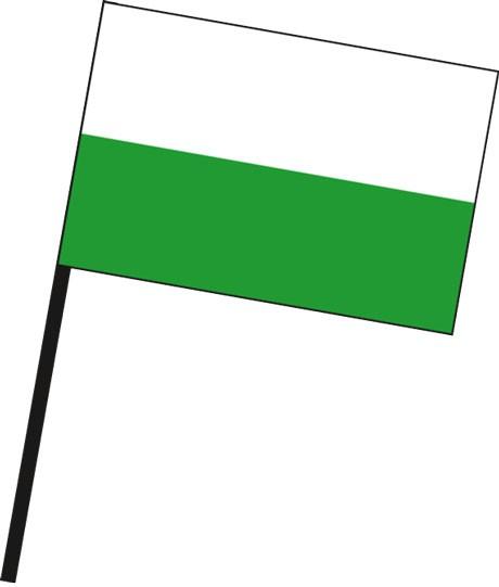 Sachsen - Streifenflagge als Stockfahne
