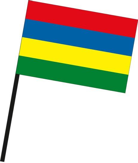 Mauritius als Stockfahne