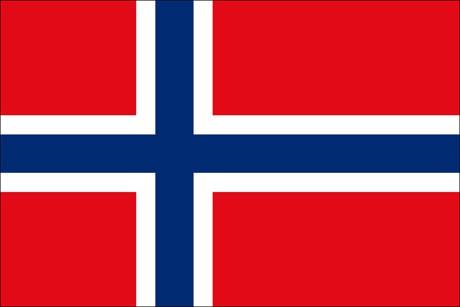 Norwegen als Fanfahne