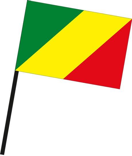 Kongo Brazzaville als Stockfahne