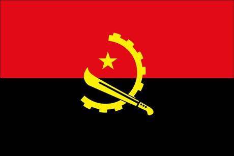 Angola als Fanfahne