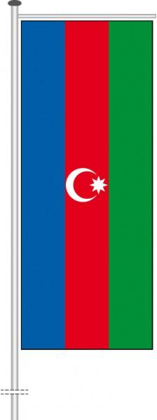Aserbaidschan als Auslegerfahne