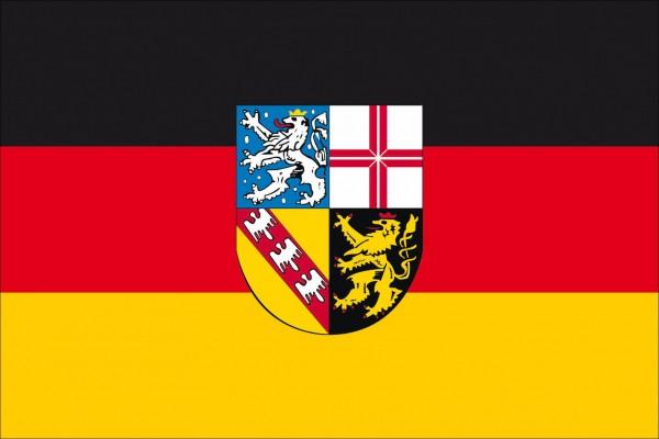 Saarland als Fanfahne