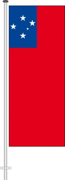 Samoa als Hochformatfahne