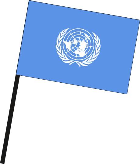 Vereinte Nationen als Stockfahne