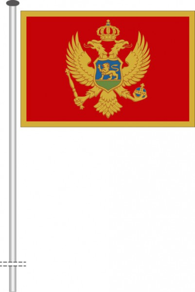 Montenegro als Querformatfahne