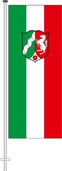 Nordrhein-Westfalen - Dienstflagge als Hochformatfahne