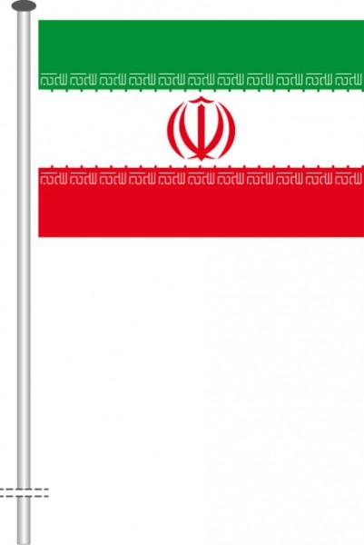 Iran als Querformatfahne