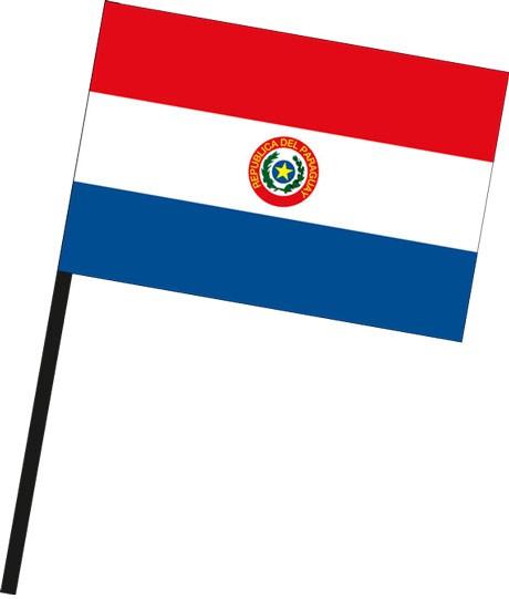 Paraguay als Stockfahne