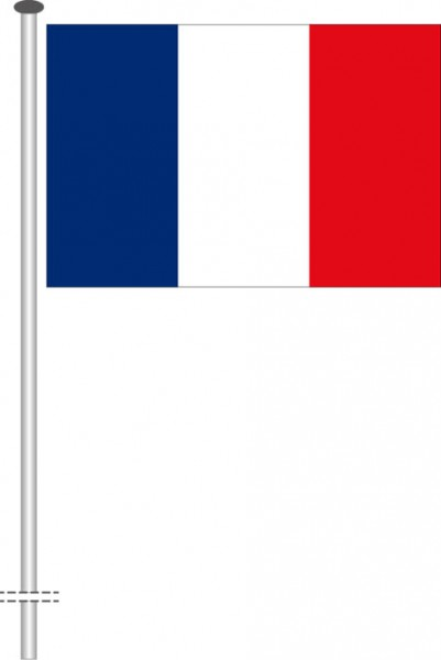 Frankreich als Querformatfahne
