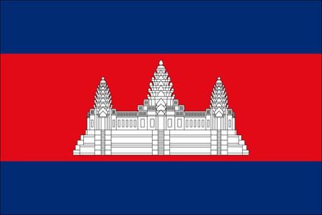 Kambodscha als Fanfahne