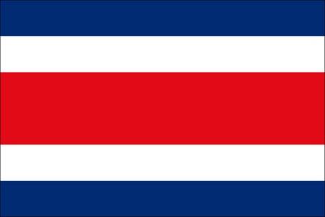 Costa Rica als Fanfahne