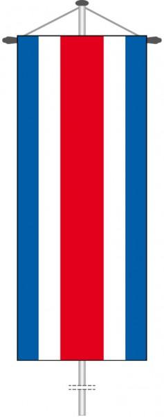 Costa Rica als Bannerfahne