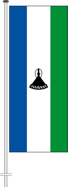 Lesotho als Hochformatfahne