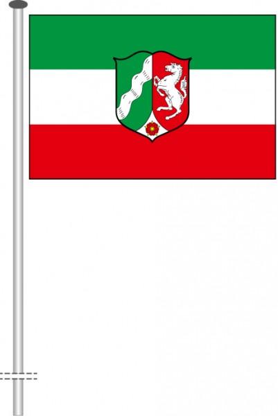 Nordrhein-Westfalen - Dienstflagge als Querformatfahne