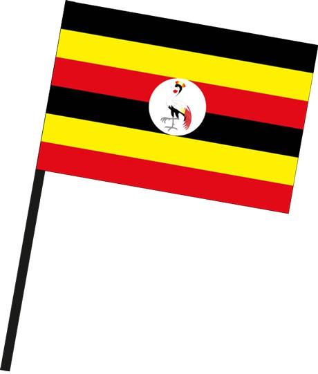 Uganda als Stockfahne