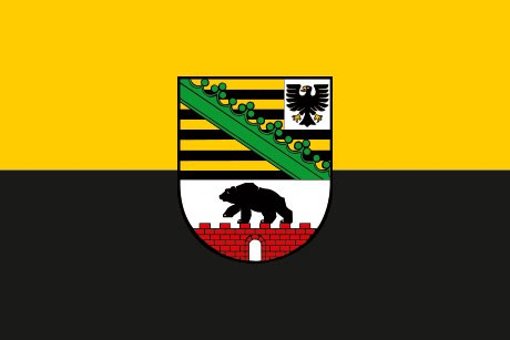 Sachsen-Anhalt als Fanfahne