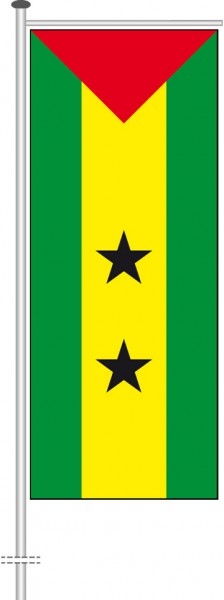 Sao Tome und Principe als Auslegerfahne