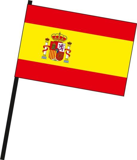 Spanien als Stockfahne