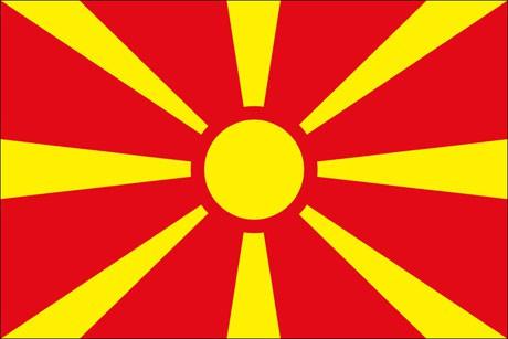 Nordmazedonien als Fanfahne