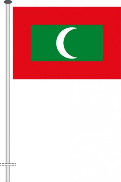 Malediven als Querformatfahne