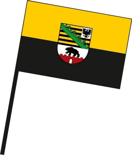 Sachsen-Anhalt - Dienstflagge als Stockfahne