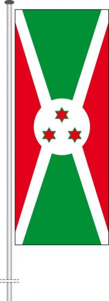 Burundi als Hochformatfahne