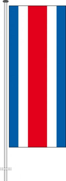 Costa Rica als Hochformatfahne