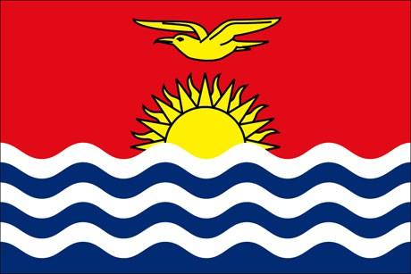 Kiribati als Fanfahne