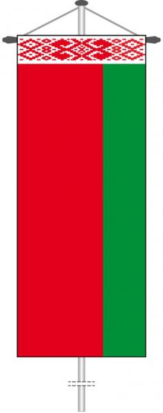 Weissrussland Belarus als Bannerfahne