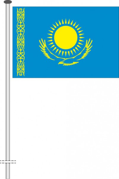 Kasachstan als Querformatfahne