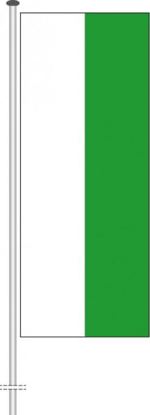 Sachsen - Streifenflagge als Hochformatfahne