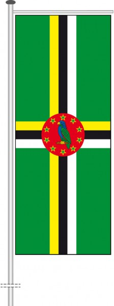 Dominica als Auslegerfahne