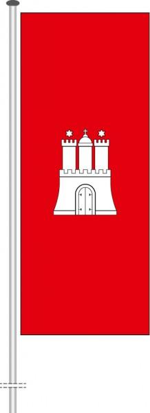 Hamburg - Bürgerflagge als Hochformatfahne