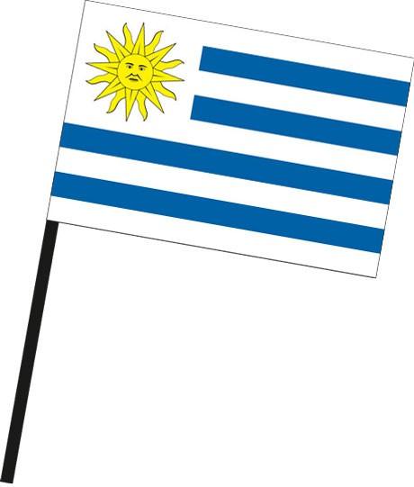 Uruguay als Stockfahne