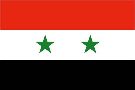 Syrien als Fanfahne