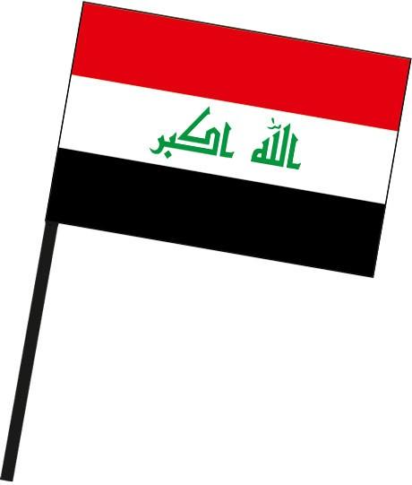 Irak als Stockfahne