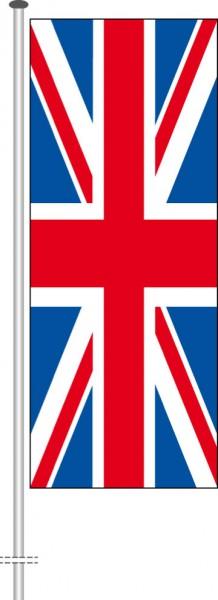 Großbritannien als Hochformatfahne