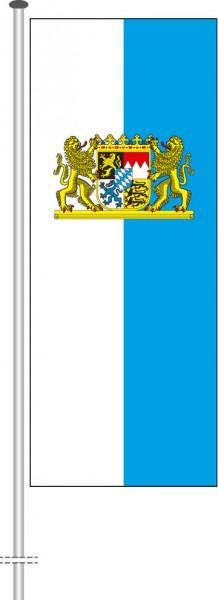 Bayern - Dienstflagge als Hochformatfahne