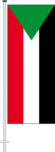 Sudan als Hochformatfahne