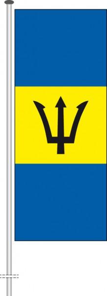 Barbados als Hochformatfahne