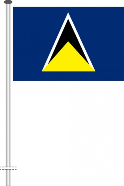 St. Lucia als Querformatfahne