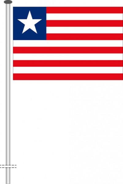 Liberia als Querformatfahne